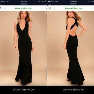 Lulu's Black Dress Size Small 2/4